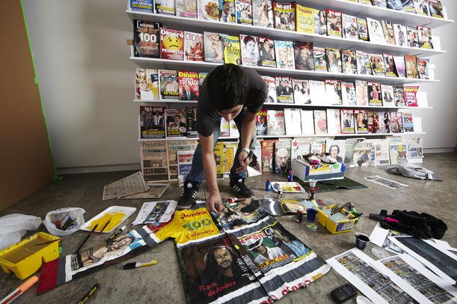 Diego Diaz artista colombiano medellin colaboracion Liu Bolin, Galeria la Cometa, revista semana